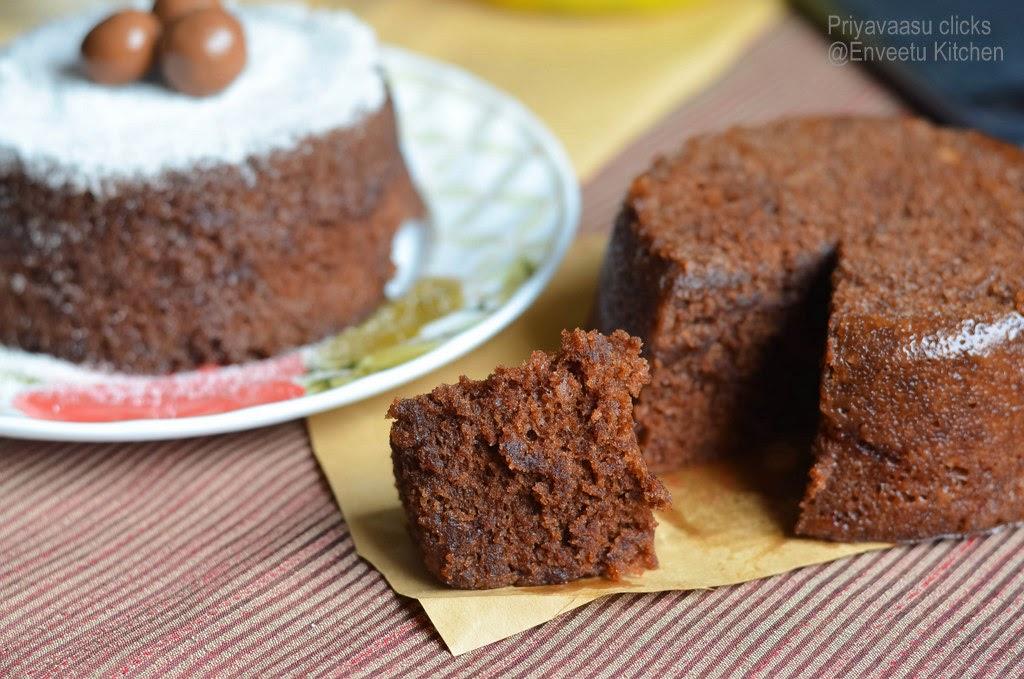 Eggless Microwave Chocolate Cake