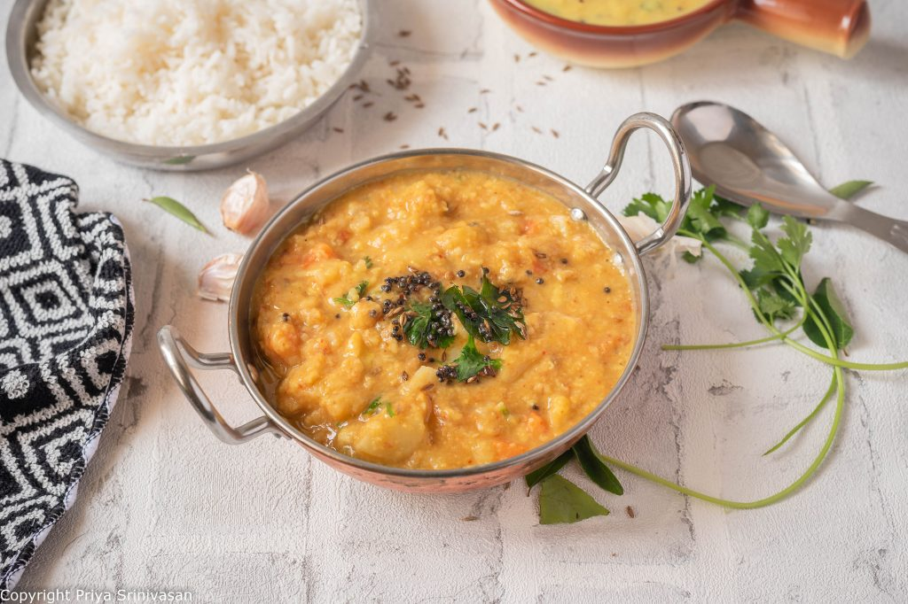 Mixed vegetable dal