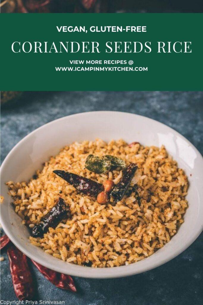 dhaniya podi rice pin