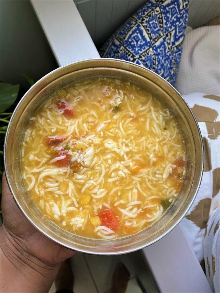 Paruppu rasam rice
