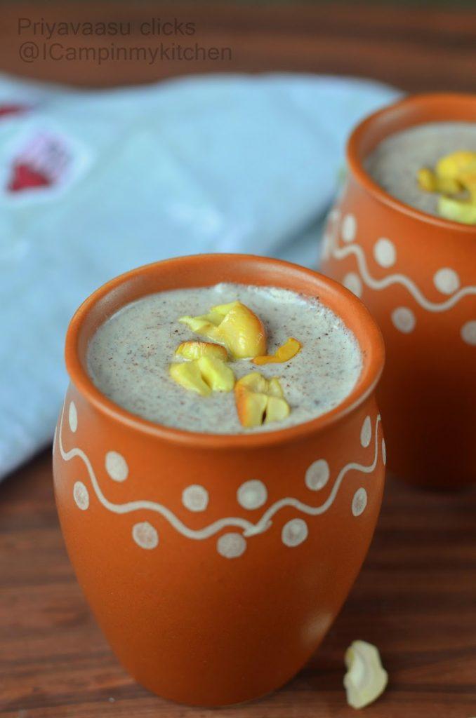 Breakfast porridge with ragi