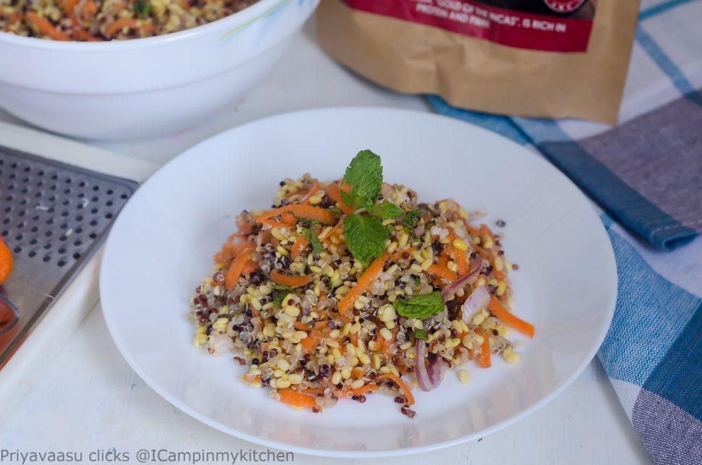 Quinoa moong salad