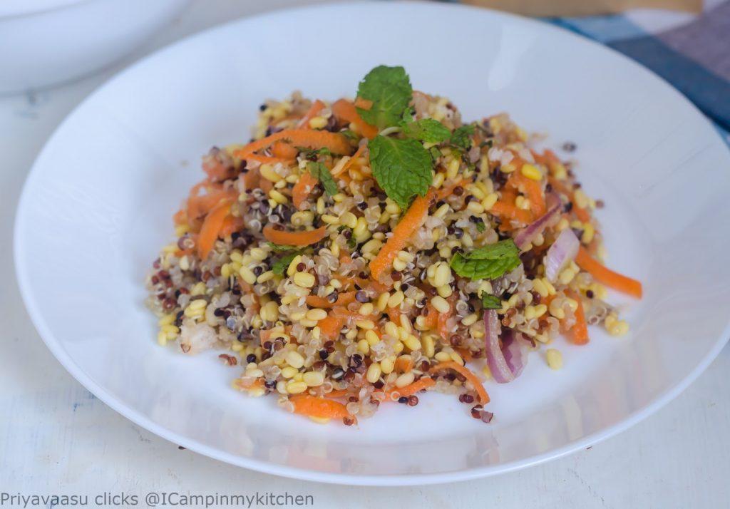 Quinoa moong kosambari