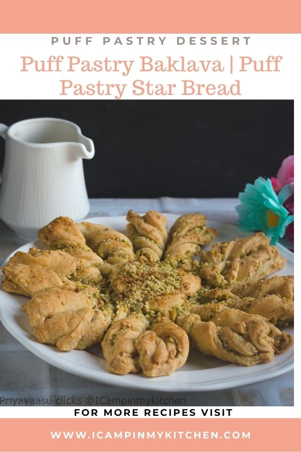 baklava with pastry sheets