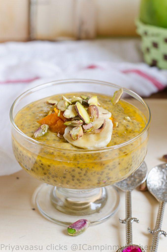 Mango-Musk Melong chia pudding
