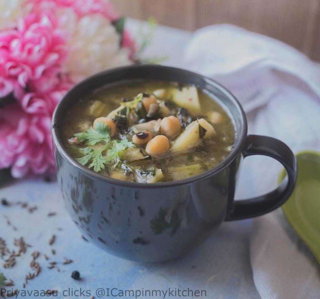 Amaranth leaves soup