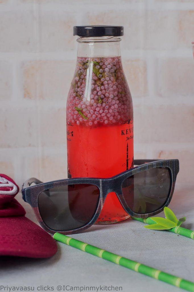 Roohafza lemonade