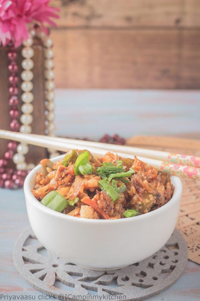 Chinese style cauliflower rice