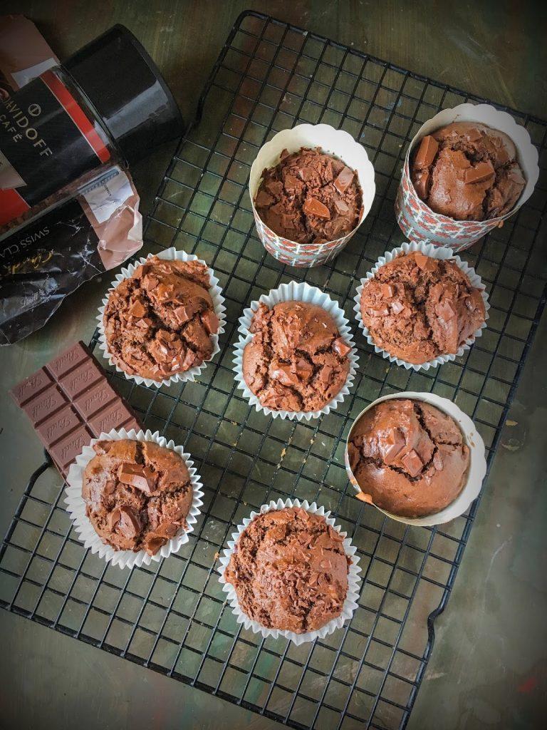 Eggless Mocha muffins