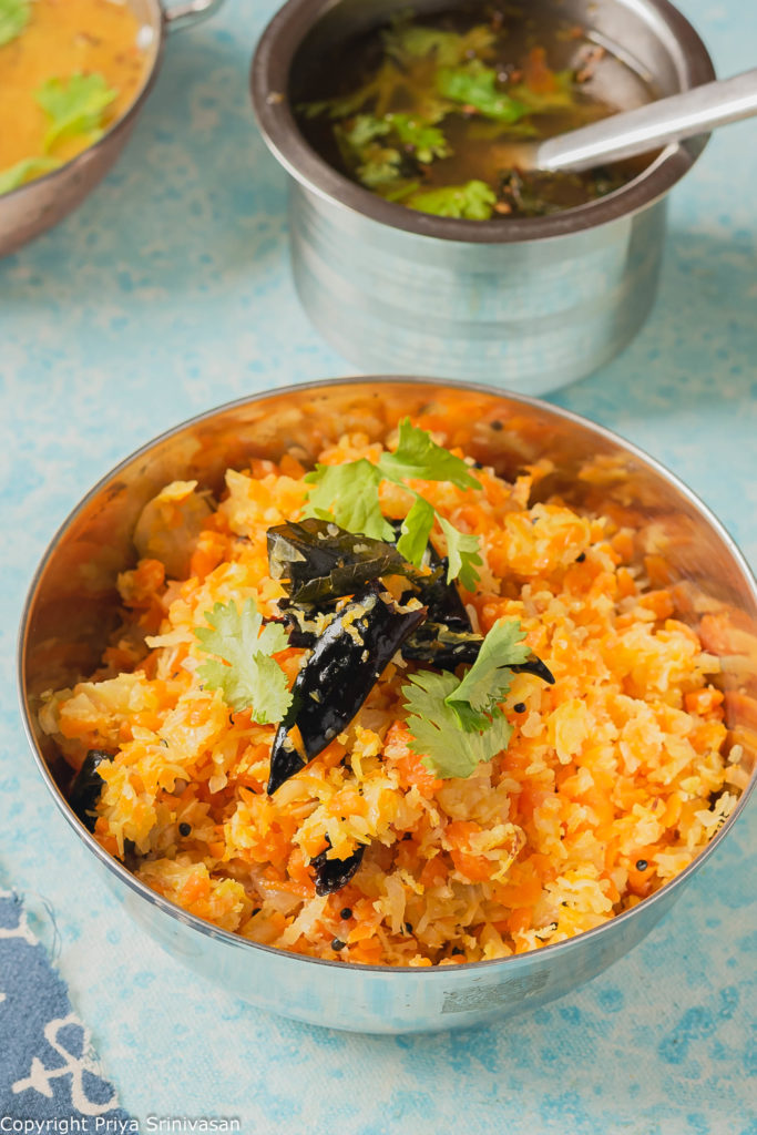 Cabbage & Carrot curry
