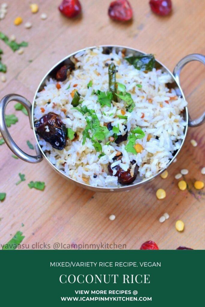 Coconut rice pin