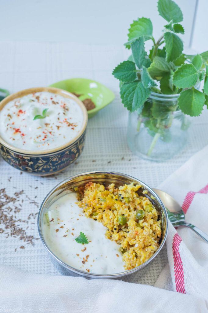 Khichdi and raita