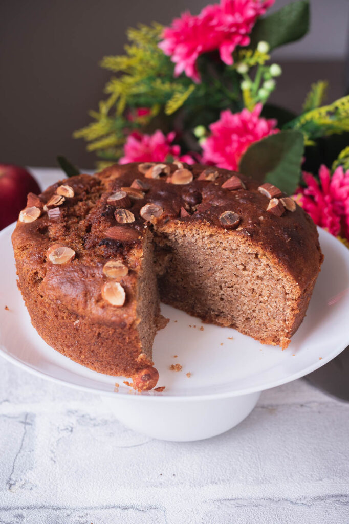 Whole wheat eggless cake