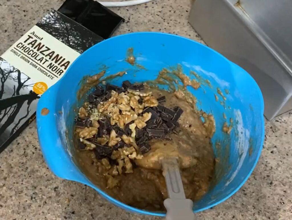 Chocolate chunks and nuts
