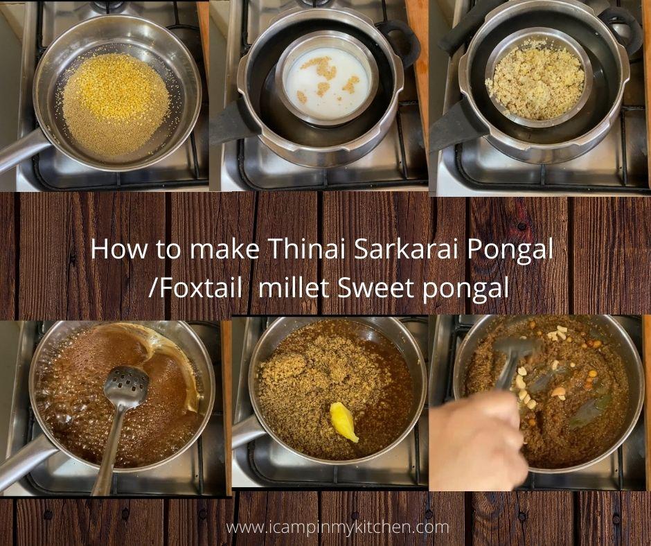Thinai pongal steps