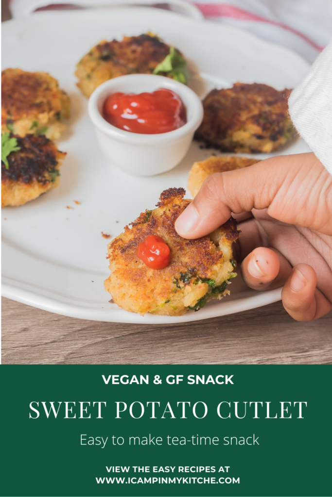 Sweet potato cutlet pin