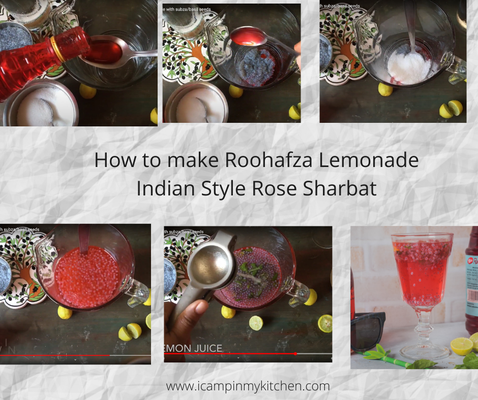 how to make roohafza lemonade