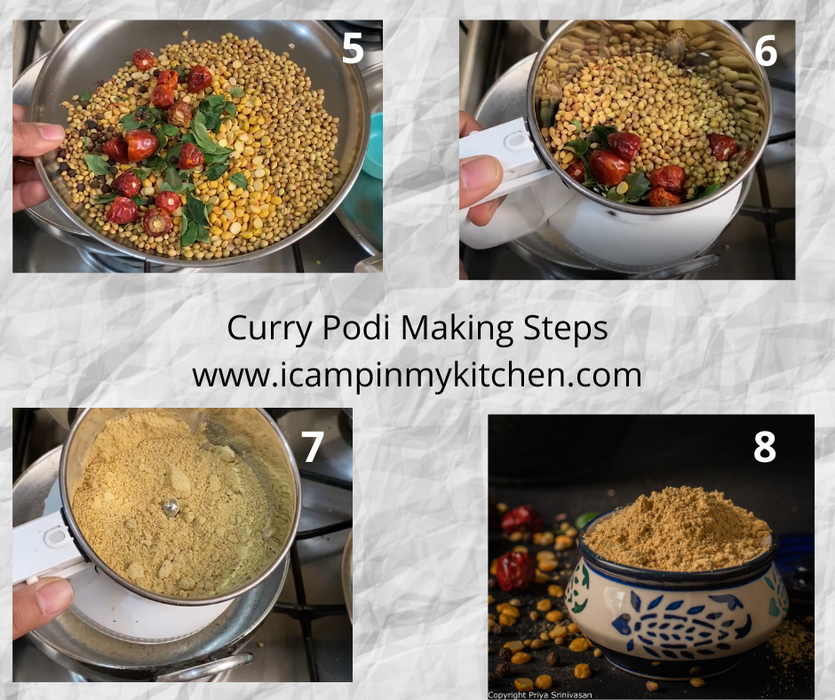 Curry powder making steps 2