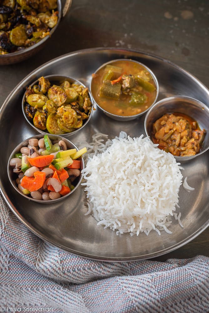 South-Indian lunch thali