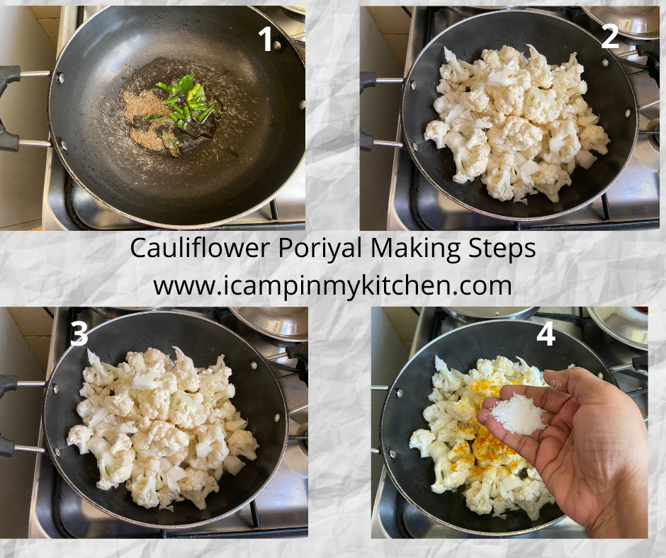 Cauliflower curry making