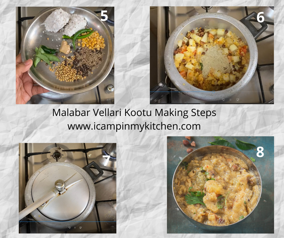 malabar vellari chickpeas kootu making