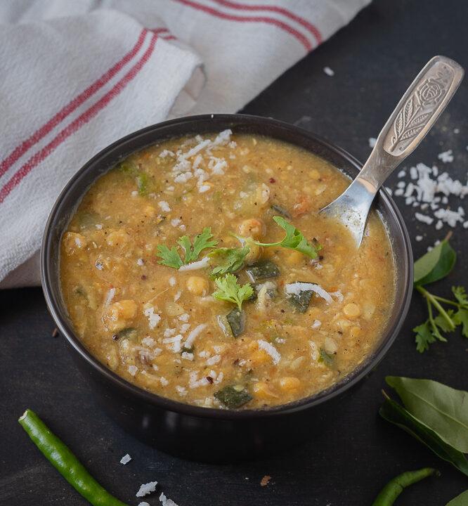 Zucchini Kadalai paruppu kootu