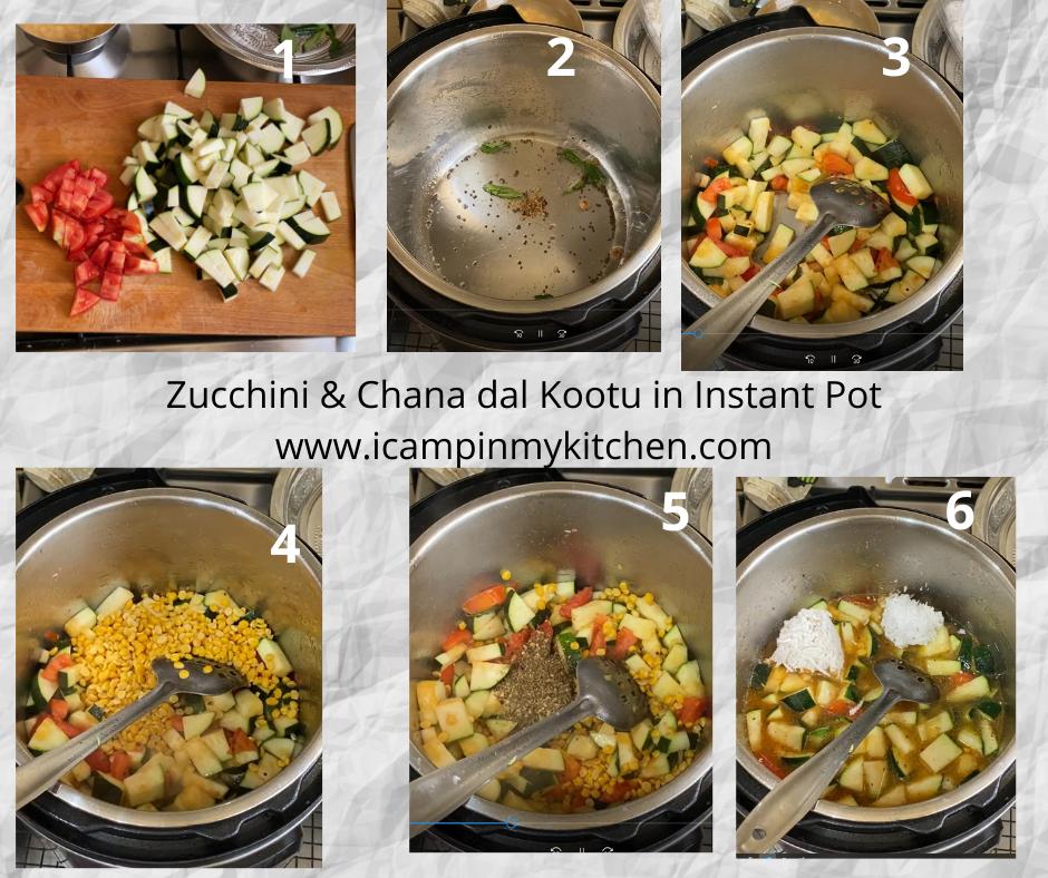 zucchini kootu making steps