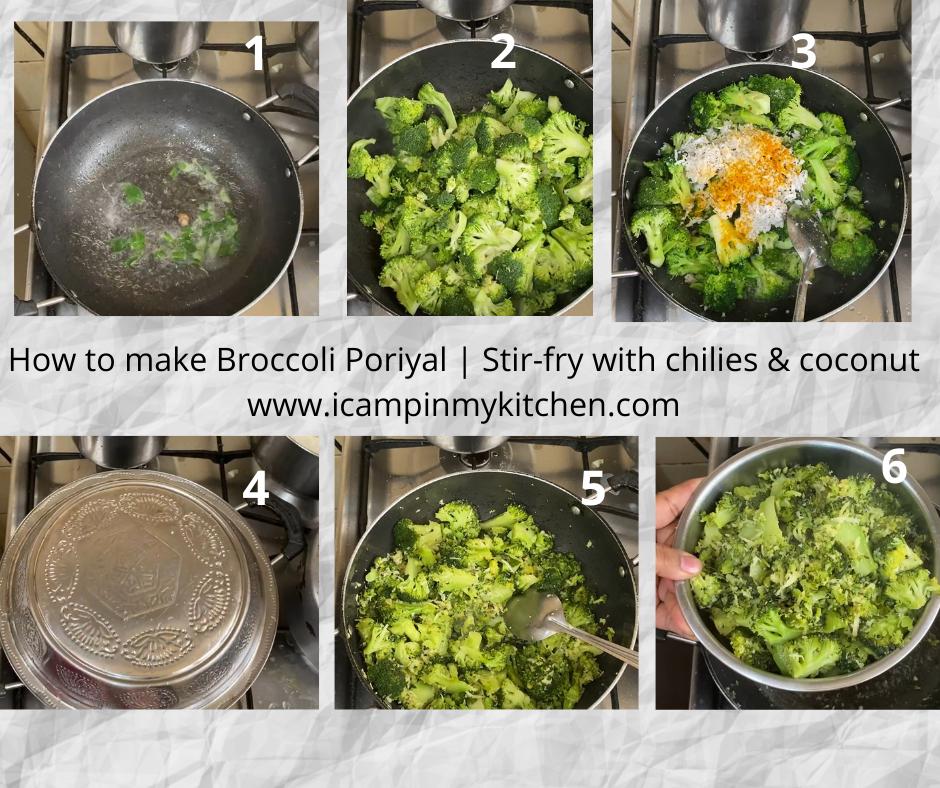 How to make broccoli poriyal