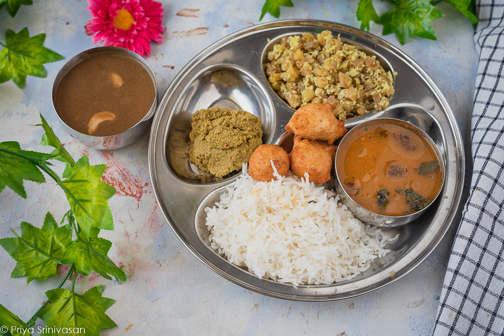 South indian lunch thali #7