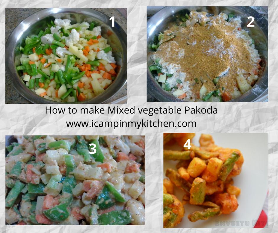 How to make vegetable pakoda