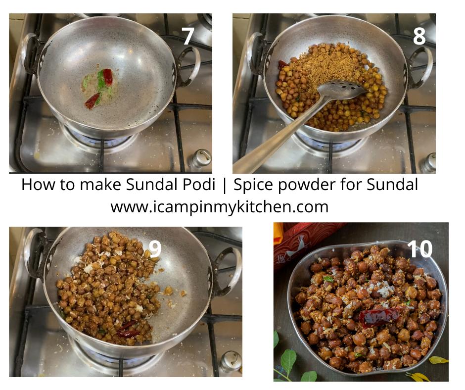Making sundal with sundal podi